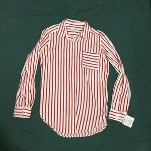 BRAND NEW STRIPED LONG SLEEVE BUTTON DOWN